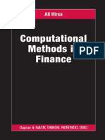 Computational Methods in Finance by Ali Hirsa
