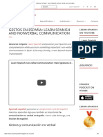 Gestures in Spain - Learn Spanish and Non-Verbal Communication