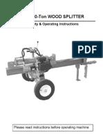 20ton Log Splitter