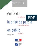 Guide La Prise de Parole en Public
