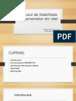 Calculul de Stabilitate Al Elementelor Din Otel (PCCIZS)