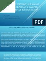 Distribución de Las Aguas Subterráneas y Campos geotérmicos en Nicaragua