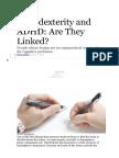 Scientifc American - TDAH e Ambidestria