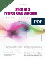 Optimization of a Printed UWB Antenna(1)