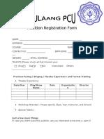 Audition Registration Form