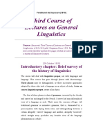 Third Course of Lectures on General Linguistics, Saussure