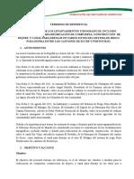 Termino de Referencia Para Estudios de Canal de Drenaje (El Milagro - Charapoto)