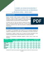 Estudio Ecología en PBA - Partido Verde