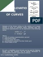 Superelevation of Curve