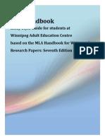 MLA Essay Style Guide - 7th Edition