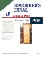 Coopered Door Cabinet