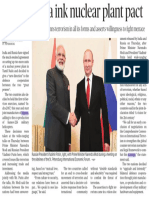 India, Russia Ink Nuclear Plant Pact