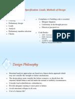 Specs, Loads, & Methods of Design