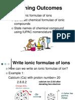 3.5 (c) Ionic Formulae