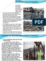 Causes of Water Pollution in Nigerian Communities