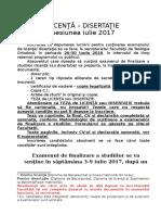 Anunt Inscriere Finalizare Studii 2017