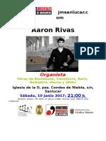 Cartel Aaron Rivas