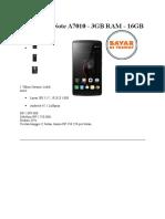 Lenovo K4 Note A7010