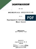 1918 - Memorias Orgánicas en el EMG