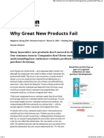 Why Great New Products Fail