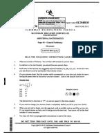 Additional Math Multiple Choice c Xc 2012