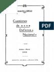 1919 - Cuestiones de Defensa Nacional (Perú)