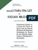 1924 - Ley de Sueldos Militares