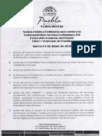 ORDEN DEL DÍA, Segundo Periodo Ordinario, Junio 01 de 2017.