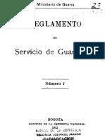 1912 - Reglamento Servicio de Guarnición