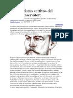 Veneziani - Lo Scetticismo «Attivo» Del Ribelle Conservatore