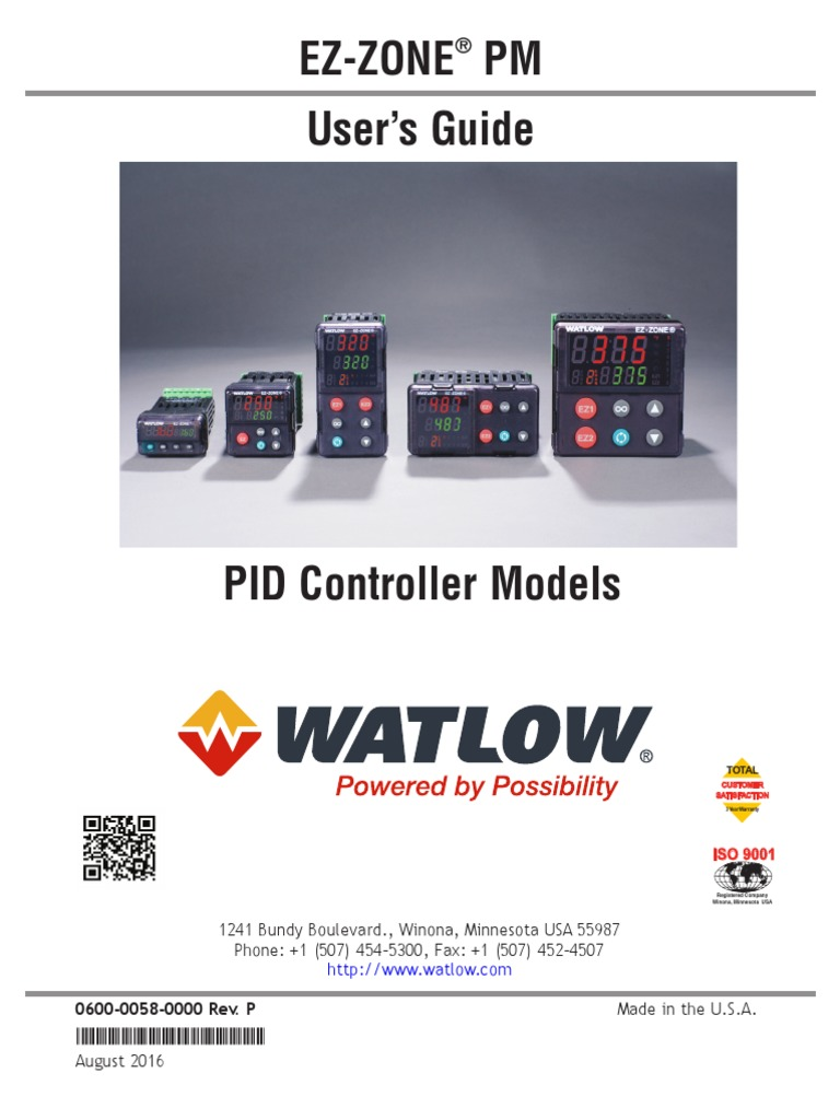 Catalogo Watlow Ez Zone Pm Pid 1 Control Theory Input Output Simple Countdown Timer On Using Cd4510
