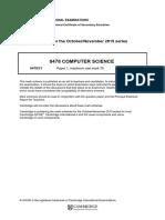 Computer Science Mark Scheme