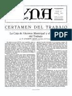 1927-09-001 La Caja de Ahorros Municipal y El Certamen de Trabajo