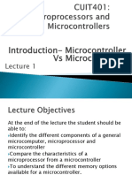 Microprocessors vs Microcontrollers