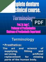Terminology. Prosthesis