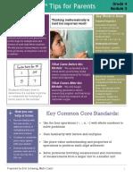 eureka math parent tips grade 4 module 3