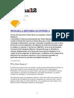 Página 12  Pensar la  historia económica - Domingo 27 de abril de 2014