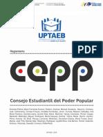 Reglamento Consejo Estudiantil Del Poder Popular de La Uptaeb 2017