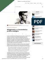 Wittgenstein e a Hermenêutica Jurídica Analógica