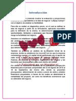 """Informe de Evaluación de Proyectos Microempresa """"Lollipop Candy"""""""