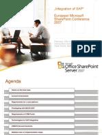 Integration of SAP-SharePoint