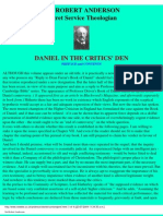 Anderson, Robert - Daniel in the Critics Den