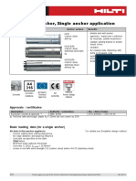 Technical Data Sheet for HKD Push-In Anchor Single Application Technical Information ASSET DOC 2331048