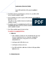 Requirements of Interview Module