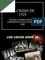 Crisis en Las Bolsa de Valores 1929 y 2008
