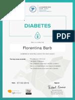 Florentina Barb Diabetes Certificate