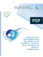 """Instalación e Implementación Del Servicio de Internet """"WICITEL"""" en El Distrito de Pátapo - Lambayeque"""