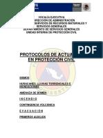 Protocolos de Actuación en Proteccion Civil