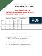 Plan Mejora 1 y 2 p Estadistic 8