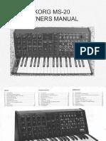 Korg MS20 Owners Manual